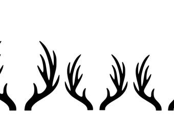Antler Family Car Decal, Customizable upon request, upto 8 antlers without additional cost
