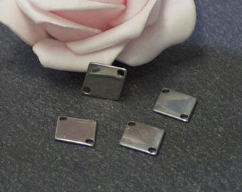 x 4 AC36 stainless steel diamond-shaped connectors