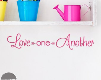 Love One Another Vinyl Wall Decal Sticker