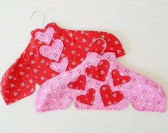 Valentine I hanger covers PDF sewing pattern - heart applique pattern - valentine pattern - instant download sewing pattern