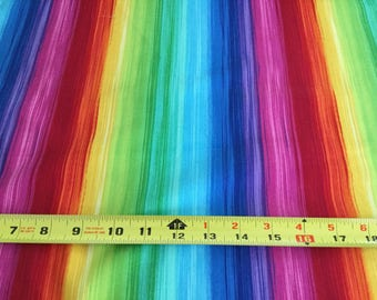 Timeless Treasure Prism Series, Rainbow  Fabric by the half yard