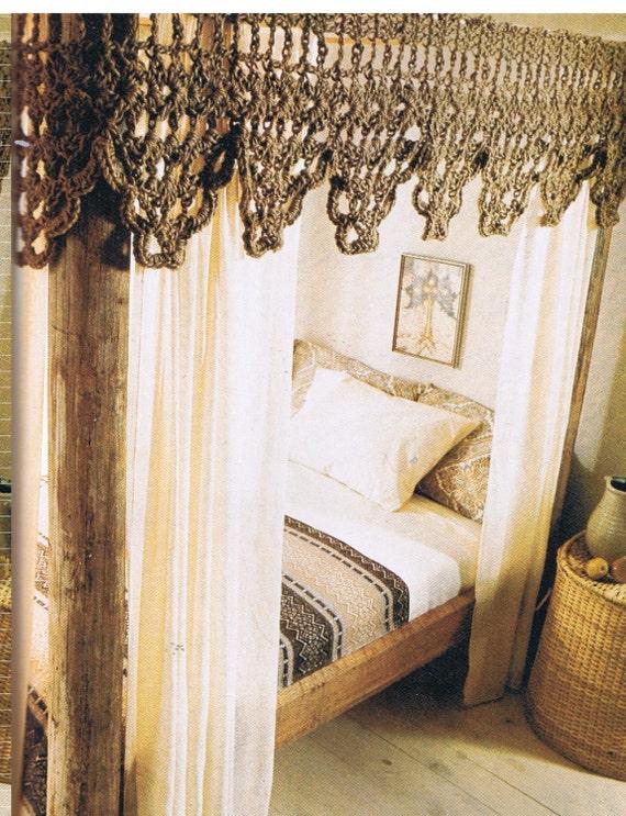 Crochet Bed Canopy Valance Crochet Pattern Pdf