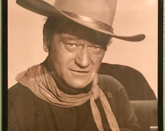 Vintage John Wayne picture in a frame 14x11