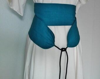 Custom Wrap Belt in Linen