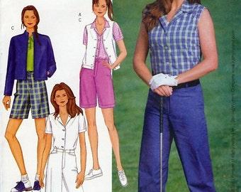 Butterick Kathy Ireland UNCUT Pattern 3017 - Misses/Misses Petite Jacket, Vest, Shirt, Shorts & Pants - 18-22