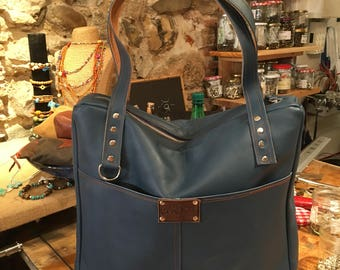 Blue retro bag