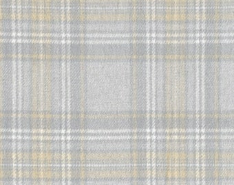 Marcus Primo Plaids  Plaid Flannel Grey Gray Tan Off White Cream Cool and Calm Fabric  J367-0144 BTY