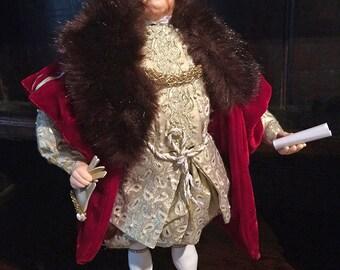 King Henry VIII Handmade Artist Doll