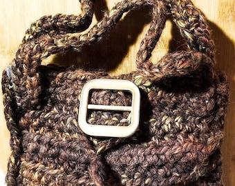 Brown Crocheted Handbag