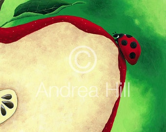 Apple Ladybug Limited Edition Print