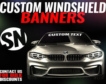 Windshield Decal Etsy - Truck decals custom
