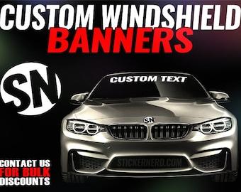 Windshield Banner Maker Vinyl Window Graphics Stickeryou Products