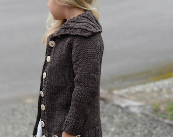 KNITTING PATTERN-The Waltyn Sweater (2/3, 4/5, 6/7, 8/9, 10/12, 14/16, Small, Medium, Large and X-Large sizes)