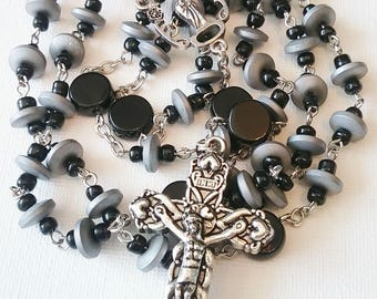 Matte Silver Hematite Rosary