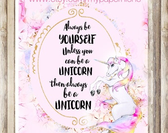 Planner Cover/ personal planner/ Unicorn