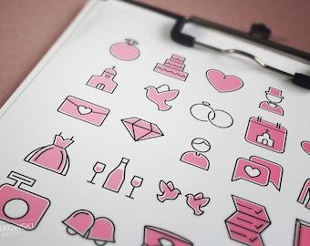 25 Wedding Vector Icons