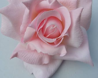 Pink Rose - wedding - millinery - home decor