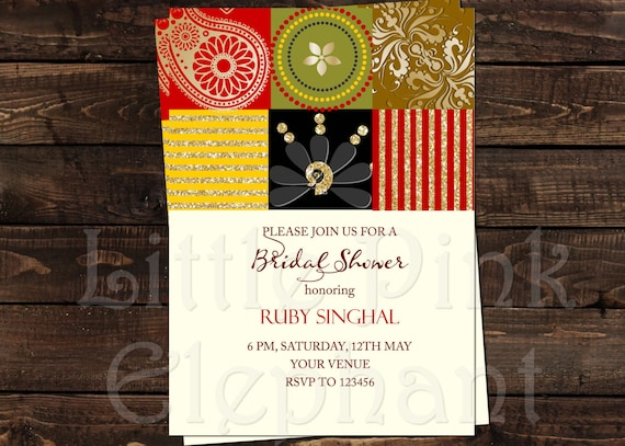 Mehndi Party Invites : Bollywood invitation mehndi party mehendi invitations