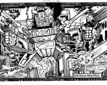 Original 2,5 x 3,5 schwarz-weiß-Skizze-Karte-Illustration auf Karton - Original-Artworks