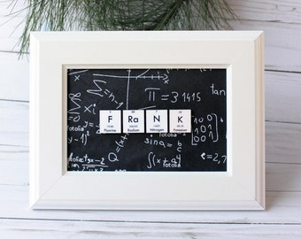 Chemistry Name Plaque//Science Name-Sign//Custom Name//Personalized Science Gift