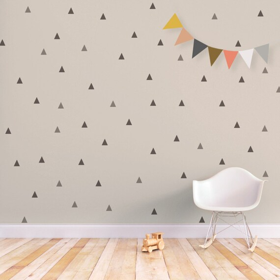 Wall Stickers Triangle Wall Decal Kids Wall Decal Baby Nursery - Baby nursery wall decals