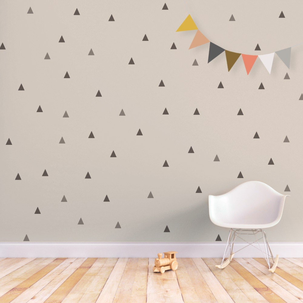 Triangle wall decal baby wall decal removable stickers kids zoom amipublicfo Image collections