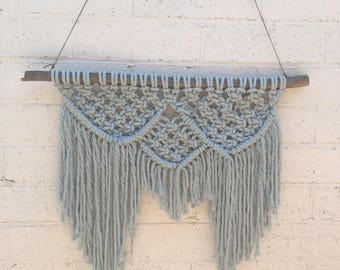 Macrame wall hanging | wall hanging | wall decorations | bohemian art | blue decor