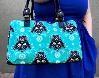 Handbag made with Darth Vader Sugarskull fabric