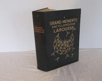 Fascinating, Large, Vintage French Dictionary Encyclopedia, Larousse Grand Memento, (c.1936) - Collectible, Ephemera, French Paper.