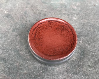 beet red clay lip color • organic, vegan lipstick • cream pigment for lips or cheeks. subtle, soft, nutritious, handmade botanical makeup.