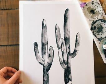 Saguaro Cacti Print, 11x14