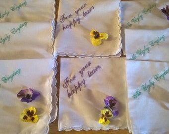 For your happy tears handkerchiefs