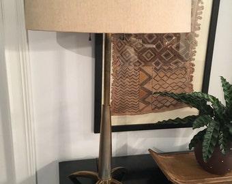 Vtg Mid Century Modern / Hollywood Regency Stiffel Rocket Brass Lamp -Parzinger