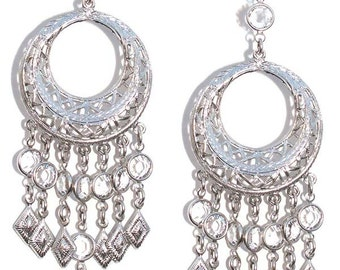 Streets Of Soho Edie Sedwick Inspired chandelier earrings