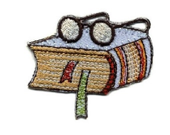 Reading - Book - School - Teacher - Bookworm - College - Iron On Applique Patch
