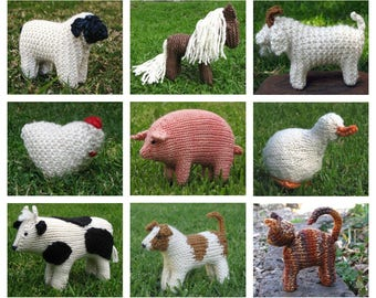 Special Buy Any 5 Mamma4earth Animal Knitting Patterns for 20 Dollars PDF