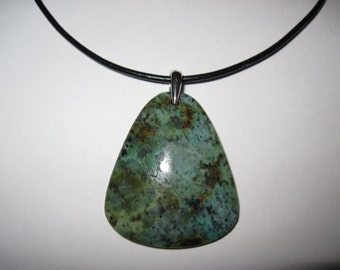 Natural stone  african turquoise necklace