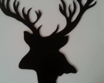 hand painted deer head for decorating medium 3mm