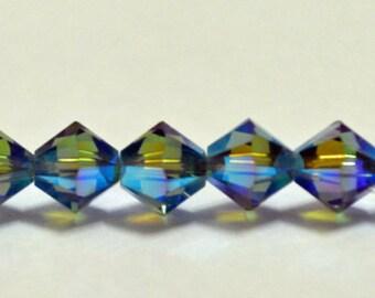 Swarovski Crystal Beads XILION 6mm - Blue Denim AB2X (12 PCS)