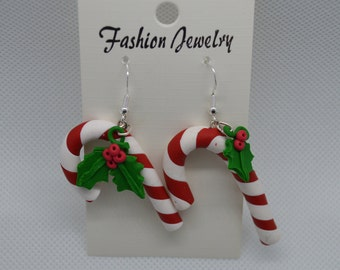 Earrings: barley sugar and Holly