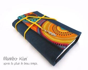 Couverture livre grand format, protège livre de poche, accessoires livre, sac livre tissu, pochette livre rabat, étui livre, mandalas, lin