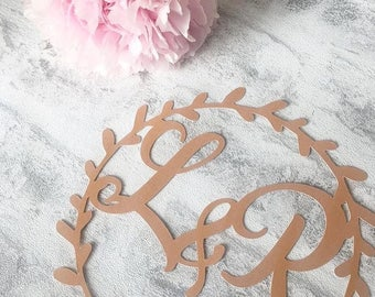 Personalised Initial Wedding Cake Topper