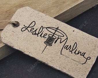 Needlework Sewing logo, business logo and watermark, retro logo, seamstress logo, premade logo design - design logo