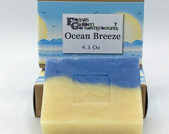 Ocean Breeze Handmade Vegan Shea Butter non-GMO Soap