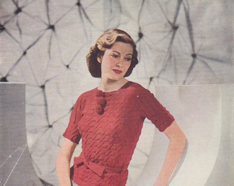 1938 Crinkly Pattern Jumper