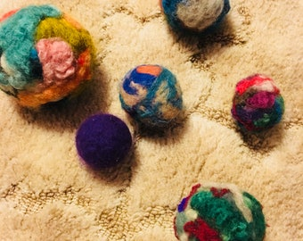 Felted toy ball