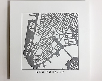 Nyc or Brooklyn pressed prints