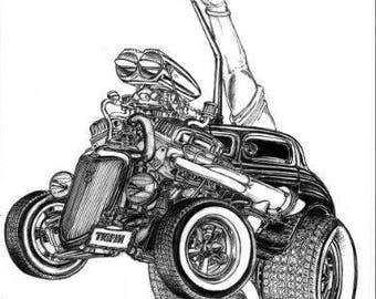 Custom Illustrations  Cars, Boats Homes Daddypaddyart Detailed illustrations