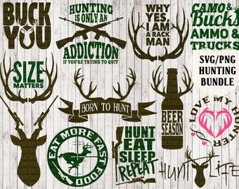 Jagd Svg-Bundle, Hirsch Svg, Buck Svg, Geweih Svg, Jagd Clipart, Jäger Svg, Land Svg, t-shirt Designs, Vinyl cut Dateien, Vektorgrafiken