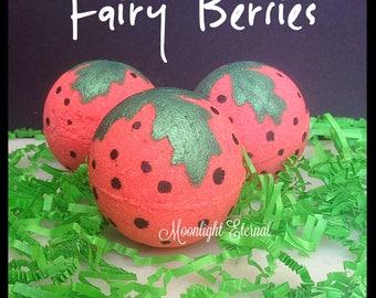 Fairy Berries - Strawberry Bath Bombs - Handmade Bath Bomb - Bath Fizzy - Fairy Bath Bomb -
